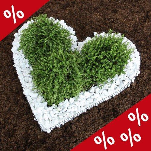 %% HERZGITTER Herz Gitter Bellissa Grabschmuck Grabgestaltung Blumentopf Friedhof von DEKOWELT GIESSEN %%