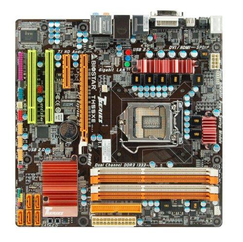 Biostar DDR3 LGA 1156 Intel H55 HDMI Micro ATX Intel Motherboard TH55XE