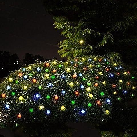 Cadena de Luz LED con Energía Solar WEINAS® Luces Solares de La Secuencia, Luz Multicolor de Decoración Exterior / Interior Impermeable para Hogar, Fiestas, Boda, Arbóles Navidad, Jardín, Patio, Terraza y al Aire Libre