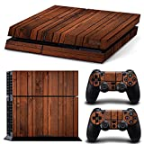 Wood Holz Grain Decal Skin Sticker Aufkleber for Playstation 4 PS4 Console Controllers (dark brown) Bild