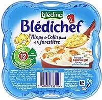 Blédina Blédichef Riz filet de Colin (lieu) à la Forestière dès 12 mois 230 g - Lot de 6