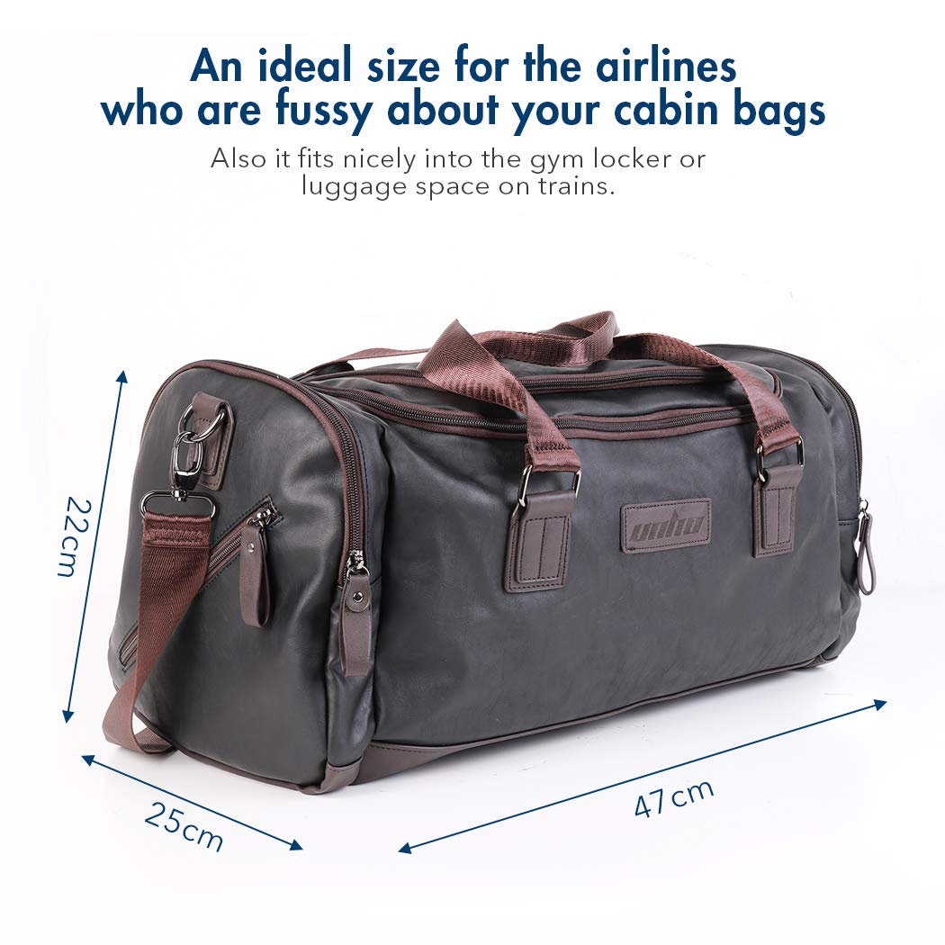 52823a150ecfa5 LUVODI Mens Genuine Leather Travel Duffle Overnight Weekender Bag Sports  Gym Holdall Carry On Bag Luggage