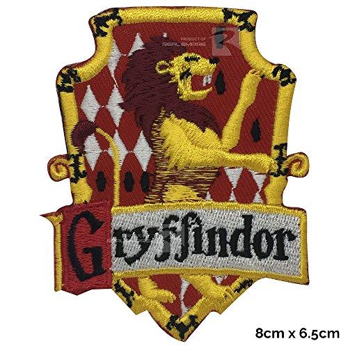 Real Empire Aufnäher, Harry Potter Gryffindor-Haus, zum Aufnähen oder Aufbügeln, für Kostüm, T-Shirt, Tasche, Jacke (3001)