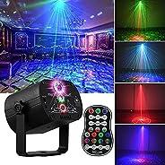 جهاز عرض ضوئي دي جيه ديسكو اضواء فلاش ليزر LED بالفضاء اللوني RGB جهاز تحكم عن بعد قابلية تنشيط بالصوت لتزيين