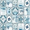 Klebefolie - Möbelfolie - Friesisch blau - 45 x 200 cm - Dekorfolie von gekkofix auf TapetenShop