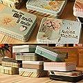 2PCS Nette Zinn-Kasten-Kasten-Speicher Zubehör für Karte / Receipt / Schatz, c von Blancho Bedding auf Du und dein Garten