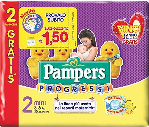 Pampers Progressi–120Baby-Windel-Windel Größe 2, Größe Mini, für Kinder