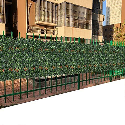 Maiaroj Siepe Artificiale - Protezione Ambientale Anti-UV Ritardante di Fiamma for - Recinzione - Ringhiera - Giardino - Trasforma Le Zone Sgradevoli E Crea Privacy in Pochi Minuti (50 Cm × 50 Cm)