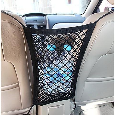 Nylon universale dell'automobile del camion bagagli Deposito ganci appesi dell'organizzatore del supporto della sede del sacchetto Mesh Netpour