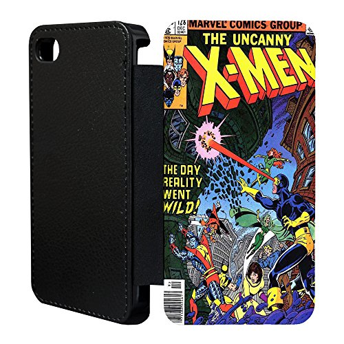 DC Marvel comic buch Flip Tasche Geldbörse für Apple iPhone 6 - 6S Nr.1 - X-Men Cyclops - G746