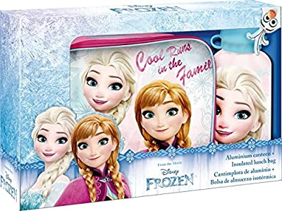 Disney Frozen Lunch Bag, cantimplora (Kids Euroswan WD17760) por Kids Euroswan