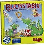 Haba 300143 - Buchstabix, lustiges Lernspiel zum Kennenlernen großer und kleiner Buchstaben, Memospiel für 2-6 Kinder von 4-7 Jahren