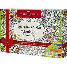 Faber-Castell - Ausmalset Feel Good mit 8 Colour GRIP Buntstiften