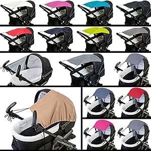 f/ür Buggy // Kinderwagen MELANGE Sonnensegel // Sonnendach DUNKELBLAU Oxford Polyester UV-Schutz 50+