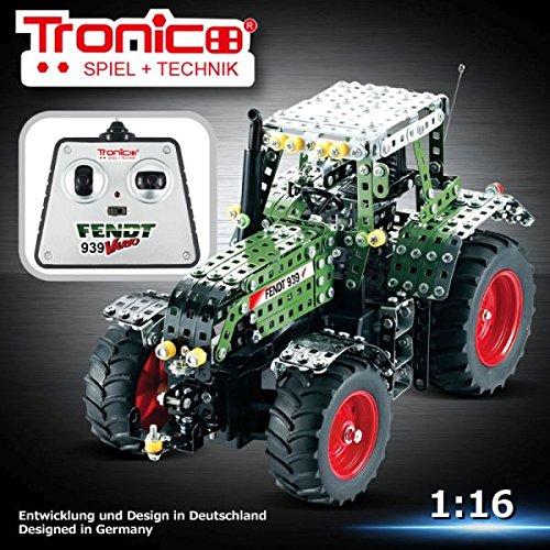 Tronico Metallbaukasten, RC Traktor, Fendt 939 Vario, ferngesteuert, 27 MHZ, 790 Teile, 1:16, bebilderte Aufbauanleitung, Baukasten inklusive Werkzeug, Profi Serie, ab 8 Jahren, rcee
