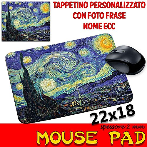 Mauspad Maus Pad personalisierbar SP 2mm Kollektion van Gogh Sternennacht