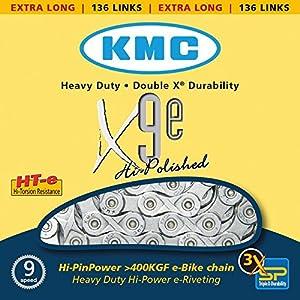 61yGPfDL1GL. SS300 KMC X9e E-Bike 9-fach Chain // 136 Glieder