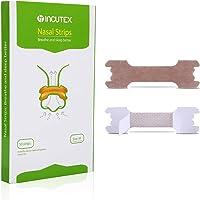 Incutex 50x cerotti nasali per non russare cerotti per naso antirussamento per respirare meglio, taglia M