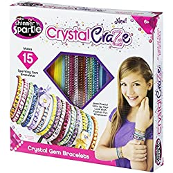 CRA-Z-ART Shimmer'n Sparkle Pulseras de Gemas de Cristal, 15 BRAZALETES (ColorBaby 44089)