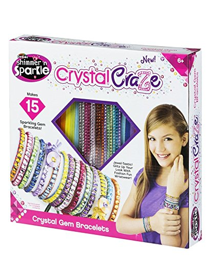Cra-Z-Art - Pulseras de gemas de cristal Shimmer\'n Sparkle (44089)