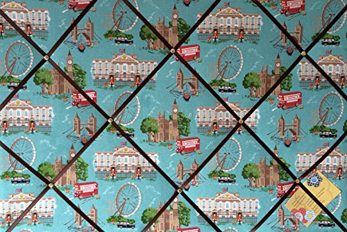 Extra Large 90x60cm Cath Kidston London Scene Hand Crafted Fabric Notice / Pin / Memo / Memory Board