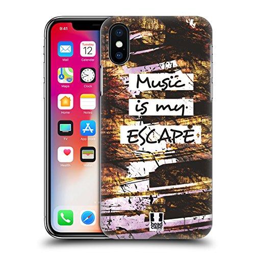Head Case Designs Chitarra Grunge All About Music Cover Retro Rigida per Apple iPhone X Tasti Pianoforte