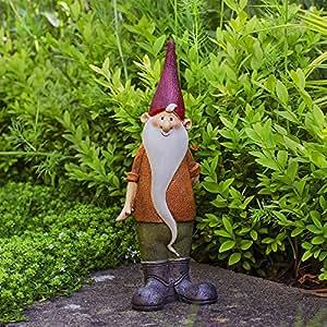 Magnus le nain de jardin en résine colorée.