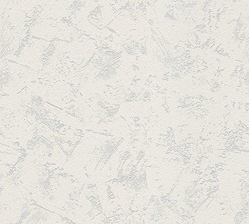 A.S. Création überstreichbare Vliestapete Meistervlies Tapete  25,00 m x 1,06 m weiß Made in Germany 520319 5203-19