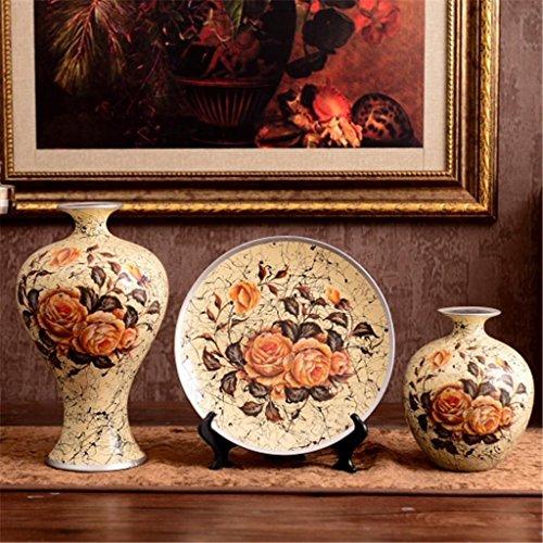 stile europeo casa vasi in ceramica Crafts tre set Tatuaggi Mobile TV del salone della decorazione Arredamento d'ingresso , a
