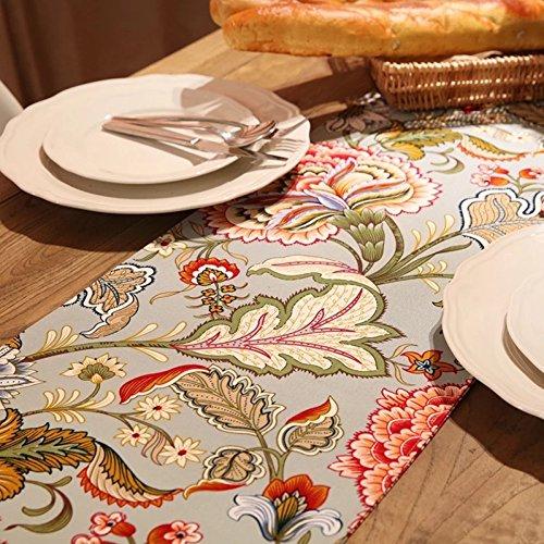 ZC&J Europäischen Retro-Stil Luxus Tischläufer, Tischfahne doppelte Dicke Baumwolle, Blumen, dekorative Hotels, Hochzeiten, Klassentreffen Tischfahnen,A,30*140cm