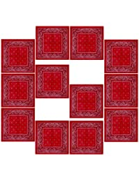 Lot de 12 Bandanas avec motif Paisley original   Couleur au choix