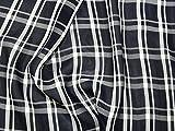 Plaid kariert Polyester Georgette Kleid Stoff, Marineblau,