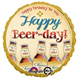 Anagram 3073201 Folienballon Happy Beer-Day, 45,7 cm, mehrfarbig