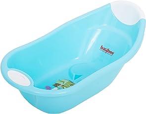 Baybee Maho Baby Bathtub with Anti-Slip (Blue)
