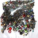 Set di 500strass in vetro multicolore hotfix assortimento 4 dimensioni S06/S10/S16/S20Bling