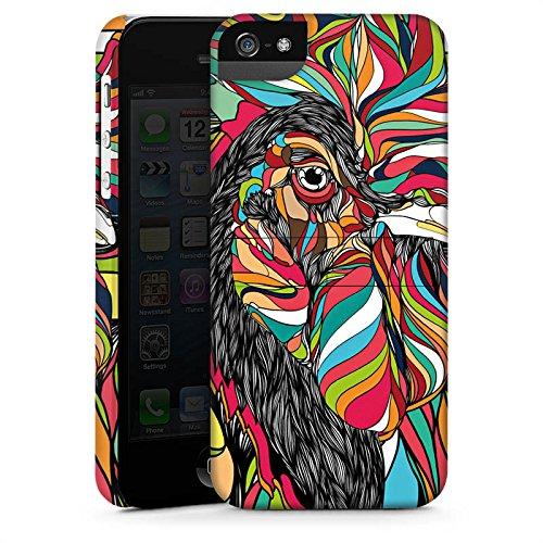 Apple iPhone X Silikon Hülle Case Schutzhülle Hahn Bunt Vogel Premium Case StandUp