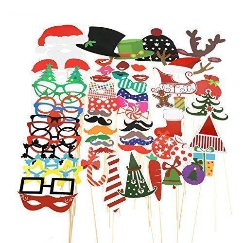 TinkSky 62 Neujahr Fotorequisiten & Fotoaccessoires für stimmungsvolle & witzige Bilder zum Party, Neujahr, die sich auch hervorragend als dekoratives Element (Party Die Für Requisiten)
