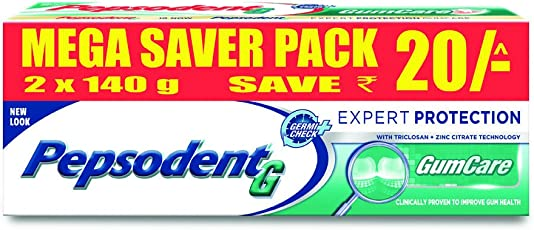 Pepsodent Expert Protection Gum Care Toothpaste, 140 g (Pack of 2)