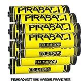 Accu - Set di 10 Batterie al Litio, da 3.6V AA Modelli: ER14505 LS14500 ER14505H, Tipo: Li-socl2, da 2700mAh