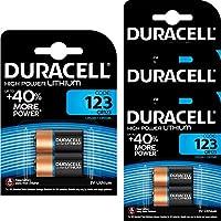 8 x CR123 3V Duracell Ultra Lithium Photo Battery - DL123 - EL123A - CR123A - CR17345