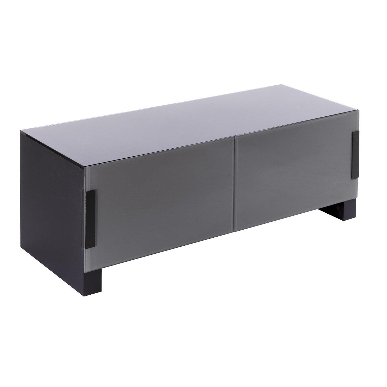 Erard 36542 Bilt 1100 Meuble 2 Plateaux Ferm Acier Noir 110 X 41  # Erard Meuble Tv