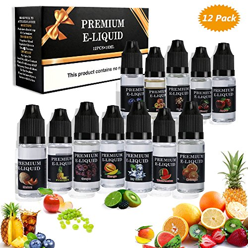 Gifort E Liquids für E-Zigarette,E Liquids ohne Nikotin,E-Juice Nikotinfrei,E-Zigaretten Liquid Set 50VG/50PG,0mg Nikotin E-Shisha E-LIQUID-BOX Premiumset Elektrische Zigarette. (12x10ml)