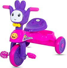 GoodLuck Baybee - Children Plug and Play Happy Baby Tricycle Kid's for 1-3 Years Baby Trike Ride on Outdoor | Suitable for Babies,Boys & Girls -(Pink)