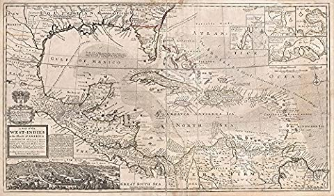 West Indies and South East Asia, Florida, Mexico Map Herman 1732 - Extra Large - Matte Print