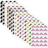 FineGood - 15 hojas de pegatinas de papel autoadhesivas para álbum de recortes, diario, organizador personal, cuaderno,14 col