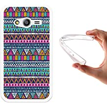 Funda Samsung Galaxy Trend 2 Lite G318H, WoowCase [ Samsung Galaxy Trend 2 Lite G318H ] Funda Silicona Gel Flexible Azteca Tribu, Carcasa Case TPU Silicona