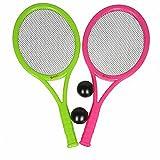 4 tlg. Kinder Tennis SET Tennis Schläger 2 Bälle Beach Strand Garten Ball Spiel