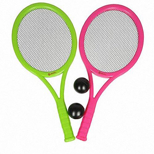 Preisvergleich Produktbild 4 tlg. Kinder Tennis SET Tennis Schläger 2 Bälle Beach Strand Garten Ball Spiel