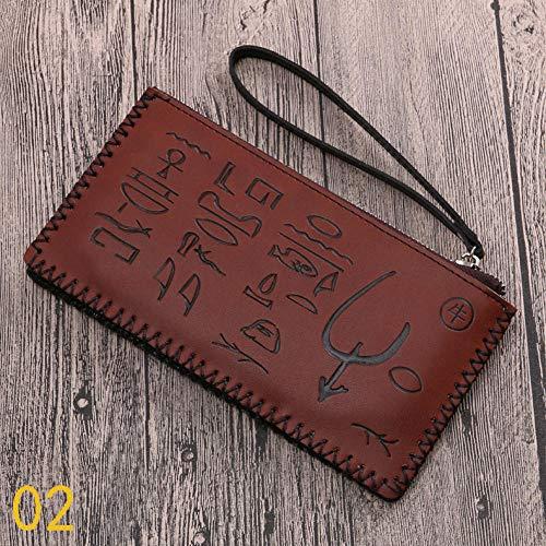 FJXMZX Damenbrieftasche Nationaler Stil Taschentuch Brieftasche Reißverschluss Brieftasche Großer Ra