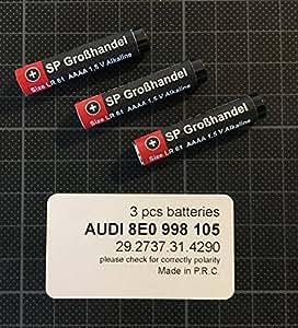 3 Stück LR61 (kurze Version ca. 39,8 mm) AAAA LR 61 MN2500 4061 4961 für Audi Fernbedienung oder diverse Fenstersysteme wie Weru Secur oder ROTO
